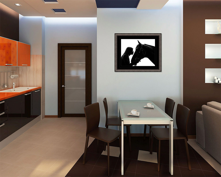 Sample Kitchenette with Wall Art