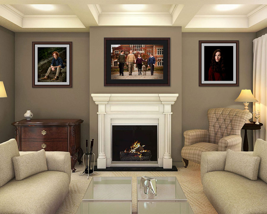 Sample Living Room with Wall Art